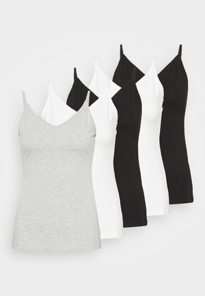 5 PACK - Top - black/white/mottled light grey