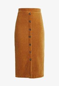 Object Tall - OBJCORDA SKIRT - Spódnica ołówkowa  - brown sugar - 3