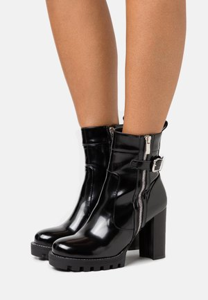 LETICIA - High heeled ankle boots - black