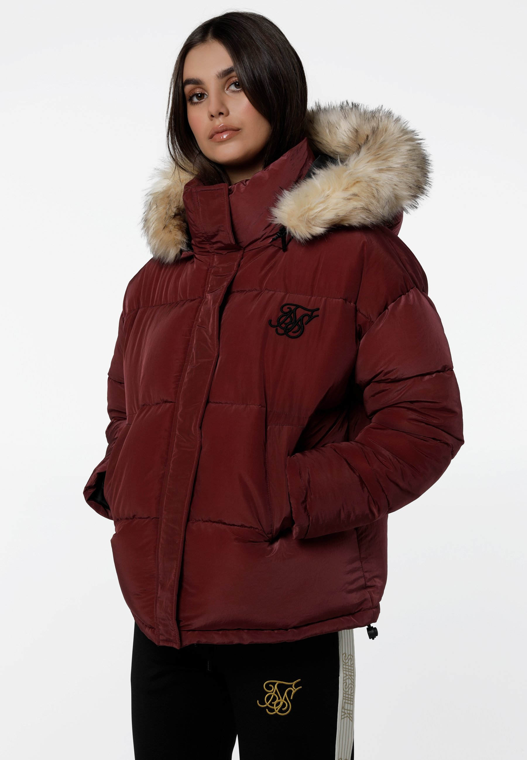 SIKSILK Winterjas - burgundy  Heren jassen zn89U