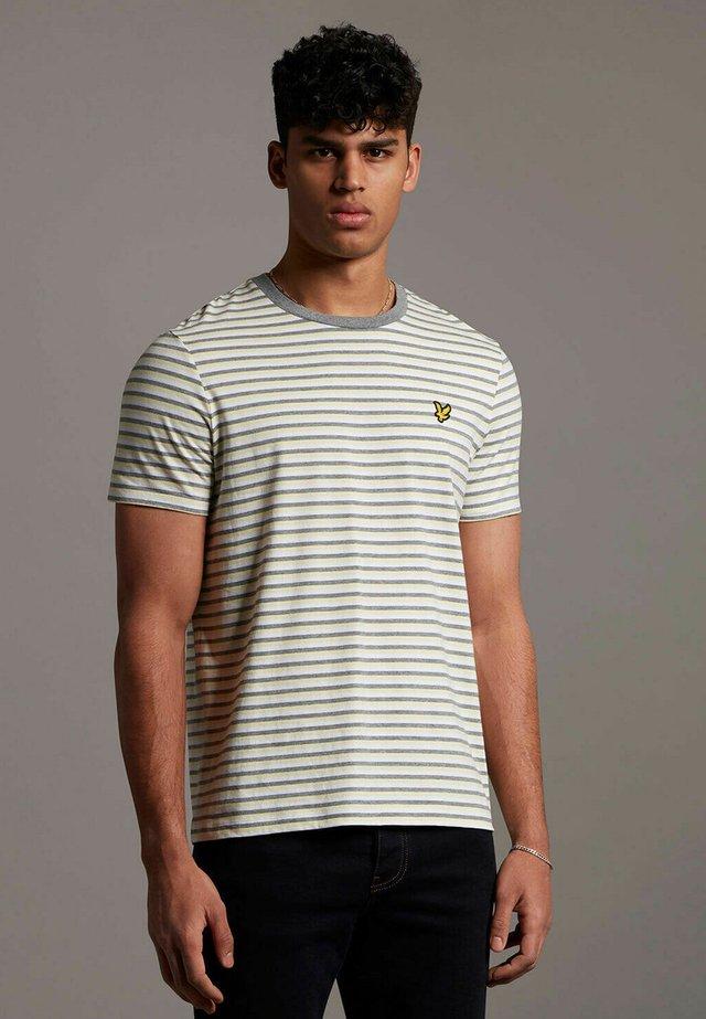RINGER - T-shirt con stampa - lemon  mid grey marl