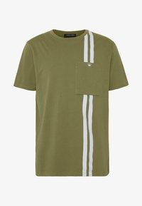 Junk De Luxe - CONTRAST STRIPE TEE - T-shirt print - army - 4