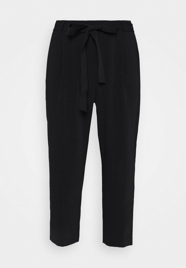 JOLENE TIE WAIST PANT - Trousers - black