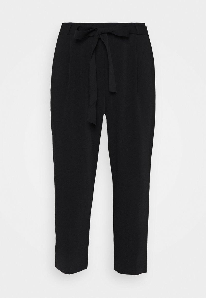 Forever New Curve - JOLENE TIE WAIST PANT - Kalhoty - black