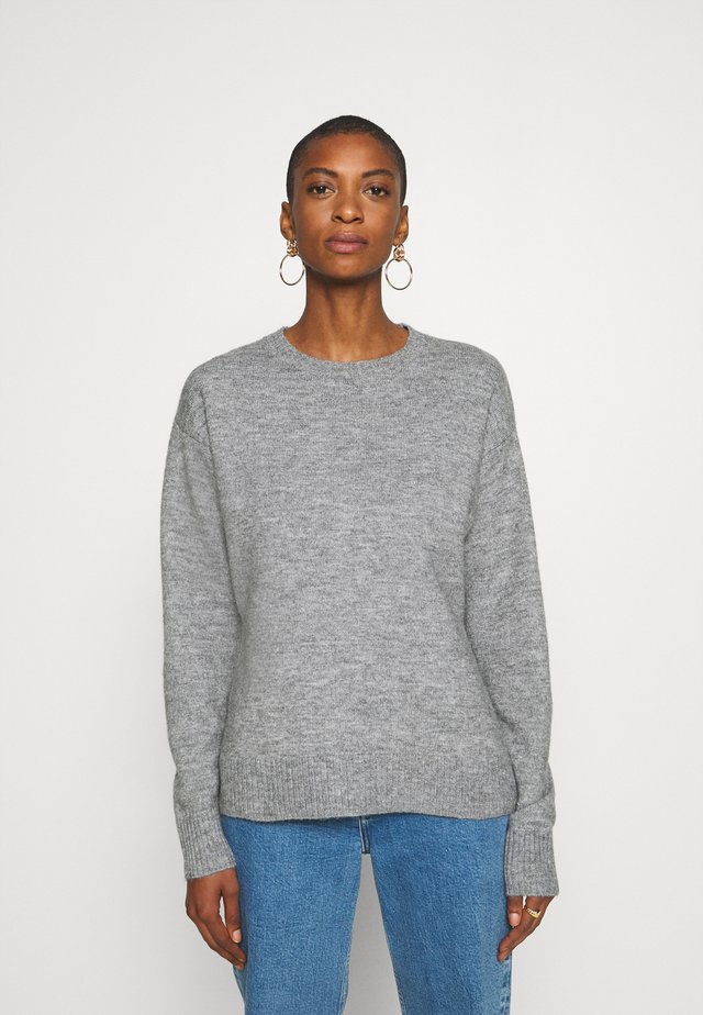 Sweter - mid grey
