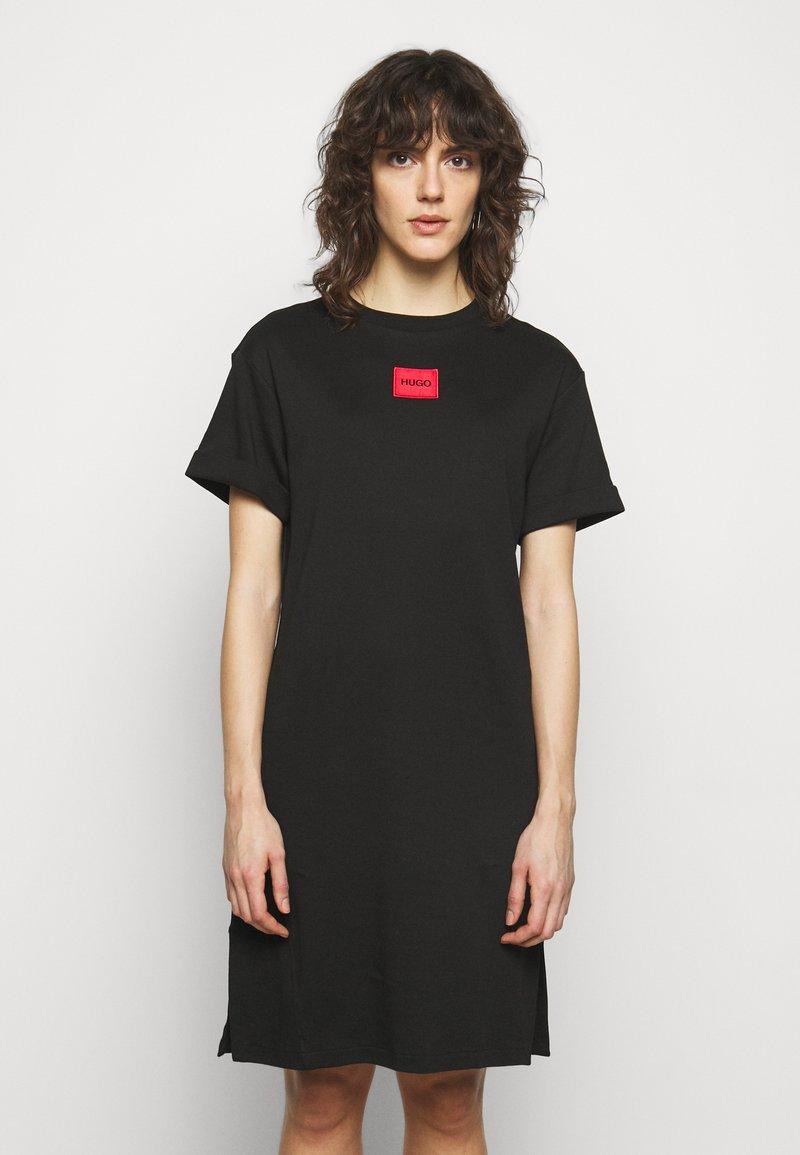 HUGO - NEYLETE REDLABEL - Jersey dress - black