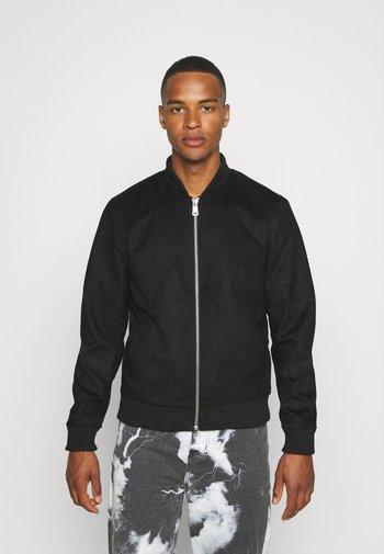 RAFAEL JACKET - Faux leather jacket - black