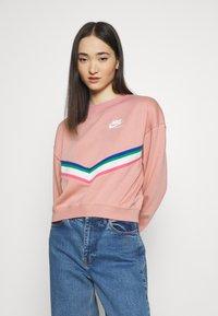Nike Sportswear - Sweatshirt - rust pink/white - 0