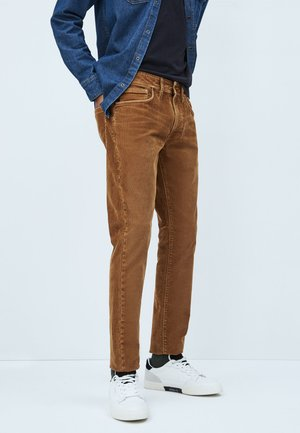 Straight leg jeans - marrón tan