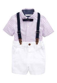 Next - LILAC SHIRT & SHORTS SET (3MTHS-7YRS) - Cinturón - purple - 0