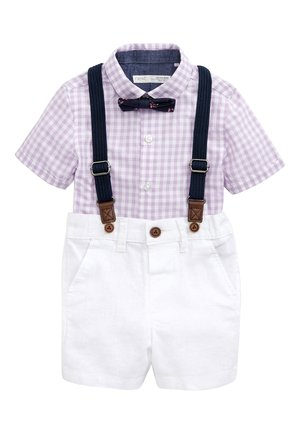 LILAC SHIRT & SHORTS SET (3MTHS-7YRS) - Belt - purple