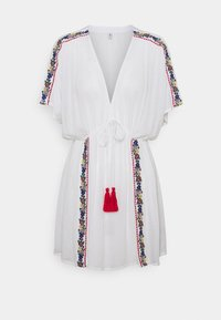 Pour Moi - CRINKLE COVER UP - Beach accessory - white/red - 3