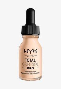 Nyx Professional Makeup - TOTAL CONTROL PRO DROP FOUNDATION - Foundation - light pale - 0