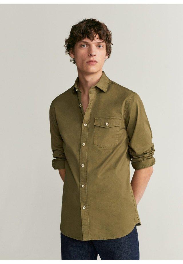 DAVID - Koszula - khaki