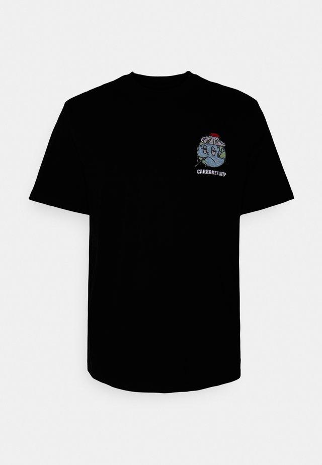 ILL WORLD - T-shirt imprimé - black