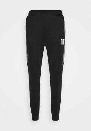 CUT AND SEW PRINCE OF WALES TRACK PANTS - Spodnie treningowe - black / white