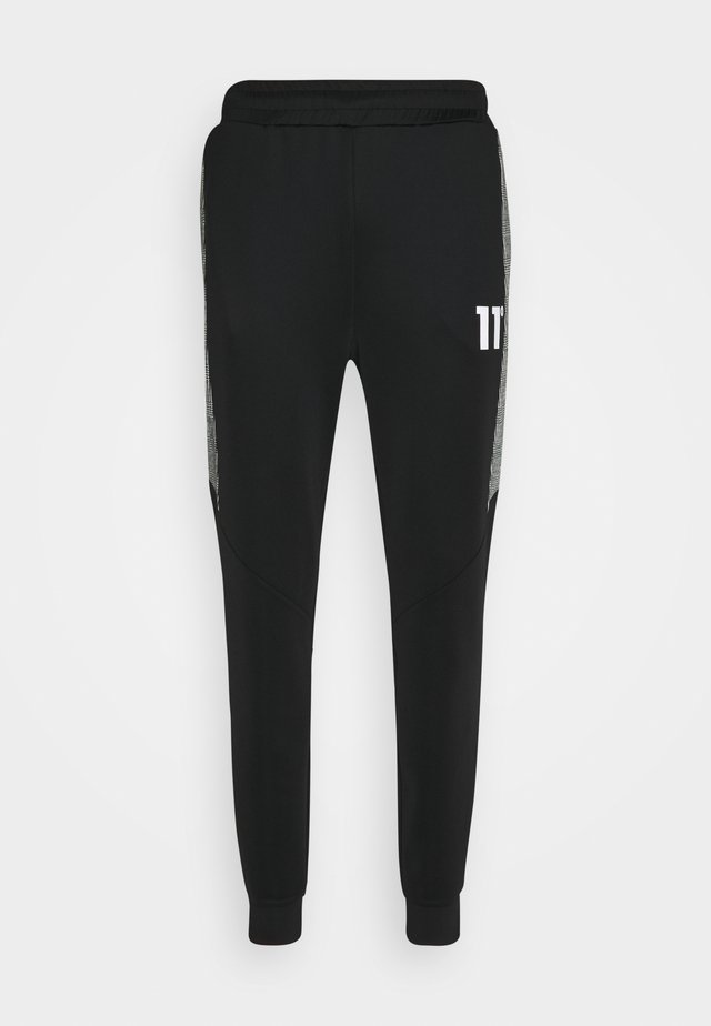CUT AND SEW PRINCE OF WALES TRACK PANTS - Pantaloni sportivi - black / white