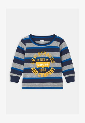 STRIPED - Long sleeved top - dark blue