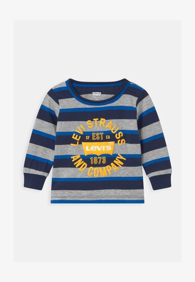 STRIPED - Maglietta a manica lunga - dark blue