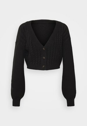 WIDE NECK  - Cardigan - black