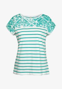 Esprit - STRIPED TEE - Print T-shirt - teal green - 3