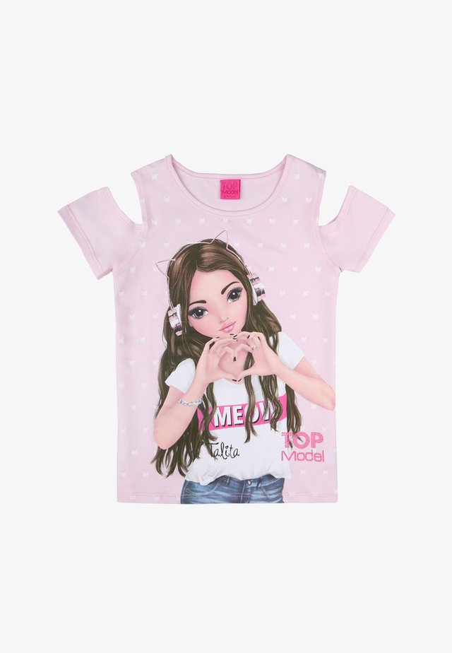 Print T-shirt - barely pink