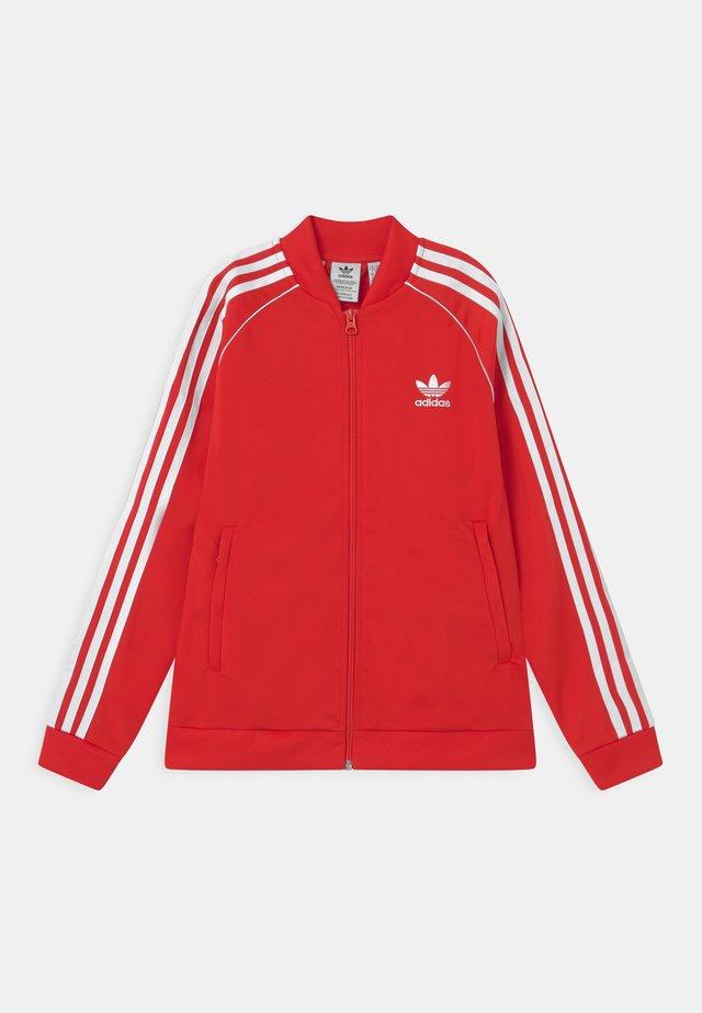 TRACK UNISEX - Training jacket - red/white