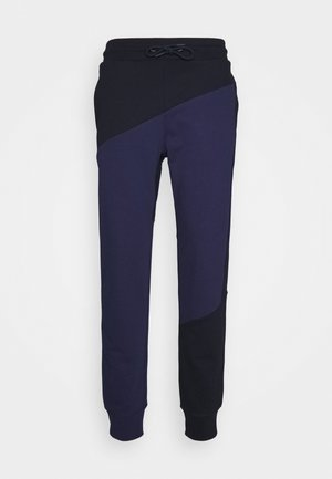 BLOCKED TERRY CUFFED PANT - Träningsbyxor - blue