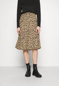 Vila - VILITIN BUTTON SKIRT - A-line skirt - ginger root - 0