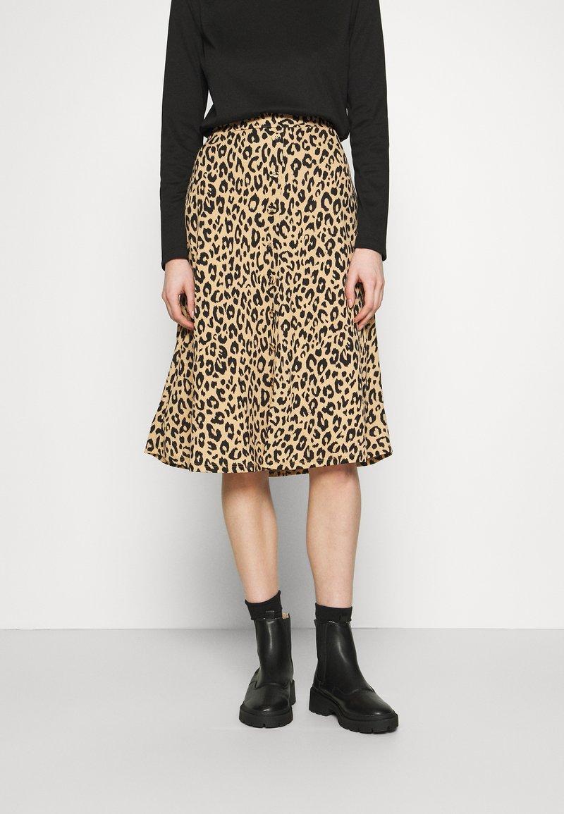 Vila - VILITIN BUTTON SKIRT - A-line skirt - ginger root