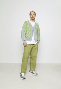 Obey Clothing - STATIC CARDIGAN - Neuletakki - good grey/multi - 1