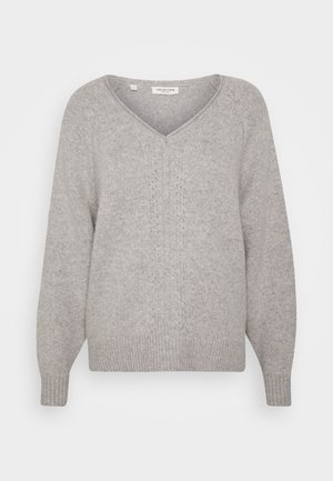 SLFMOLLY VNECK - Maglione - light grey melange