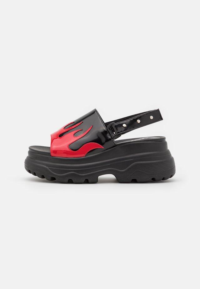 VEGAN EBO FLAME - Sandały na platformie - black