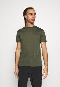 Calvin Klein Golf - 3 PACK - Basic T-shirt - khaki/navy/white - 3