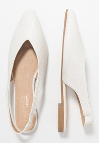 Head over Heels by Dune - HATTY - Slingback ballet pumps - white - 3