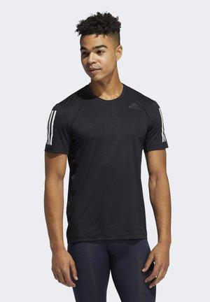TECHFIT 3-STRIPES FITTED T-SHIRT - Print T-shirt - black