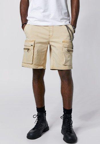 Denim shorts - vintage sand
