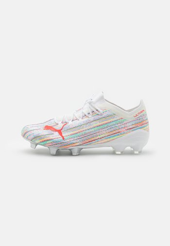 ULTRA 1.2 FG/AG - Moulded stud football boots - white/red blast/silver