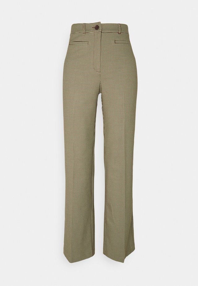 STACY TROUSERS - Tygbyxor - brown choco
