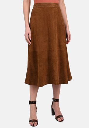 LUCILLE - A-Linien-Rock - cognac color