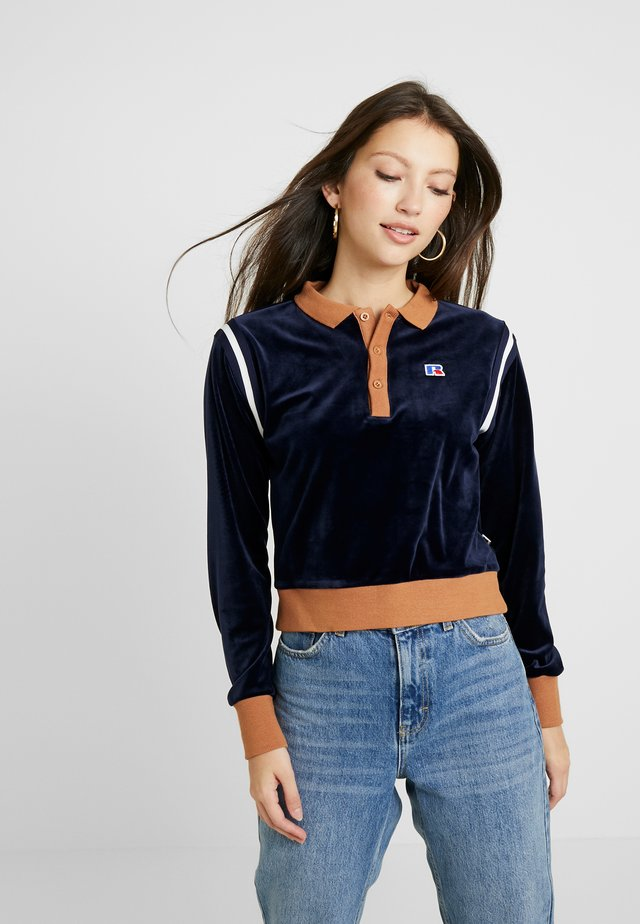 CAROLINE CROP INSERTED  - Sweatshirt - navy