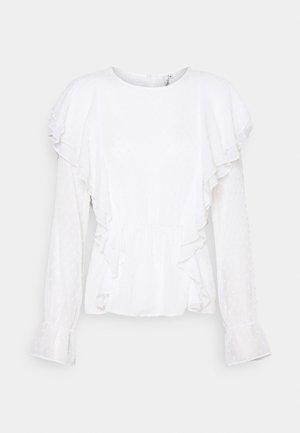FLEXIBLE FRILL - Blouse - white