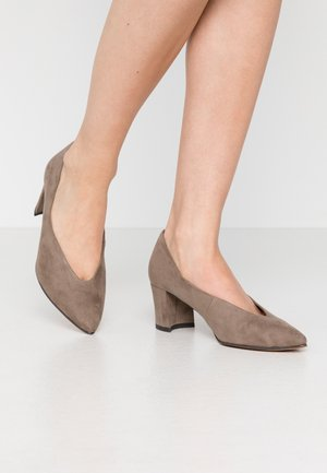 Classic heels - taupe