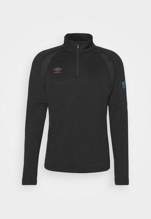 PRO TRAINING ZIP - Maglietta a manica lunga - black/carbon