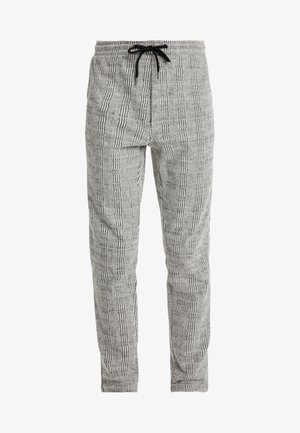 JJIWILL JJCHRIS CHECK PANTS - Pantalones deportivos - grey melange