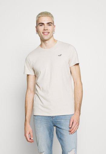 CREW  3 PACK - T-shirt - bas - tan/navy/grey