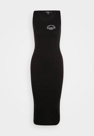 MISSGUIDED RACER BACK MIDI DRESS - Jersey dress - black
