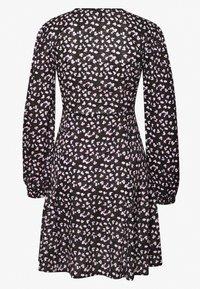New Look - SPOT DITSY SEAM DETAIL MINI - Day dress - black - 1
