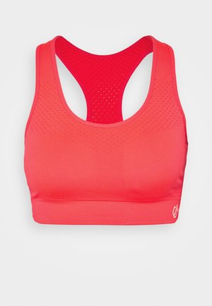 DONT SWEAT IT - Medium support sports bra - fiery coral