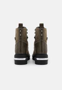 River Island - Platform ankle boots - khaki dark - 3